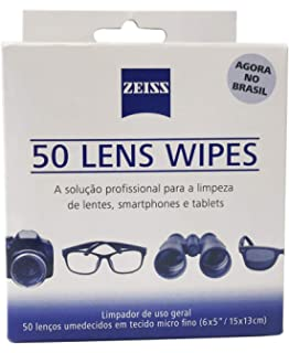 b11d9a76cce91 Pack Zeiss com 60 Lenços de Limpeza Umedecidos  Amazon.com.br ...