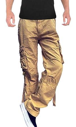 ae400d2d SKYLINEWEARS Men's Casual Military Army Cargo Pants Camo Trousers 2803  Khaki 30-30