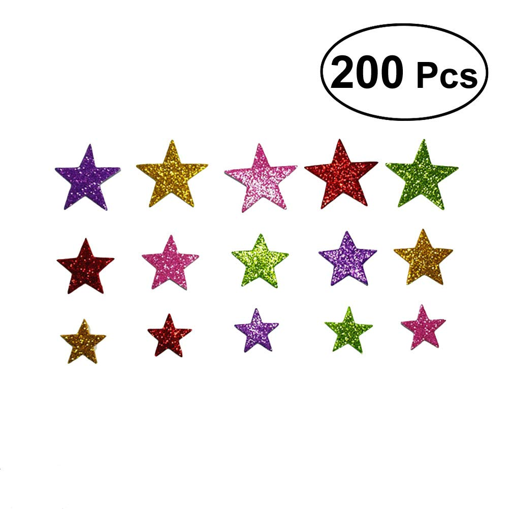 Size Color Star DIY Birthday Stickers Foam Glitter Wedding Decoration Party