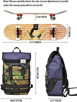 Nylon Fabric Skateboard Carry Bag Kick Skate Scooter Longboard Storage SZ F4 JM
