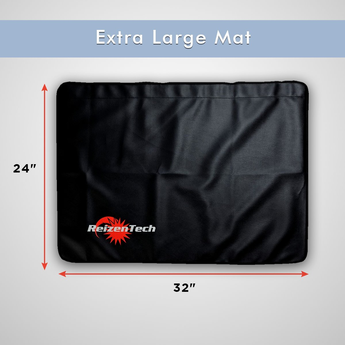 Reizen Tech Professional Magnetic Auto Fender Cover 32x24 Thick Car Pad with 8 Strong Magnets for Stability Soft Padding for Scratching Prevention Protective Mat for Repair Automotive Work