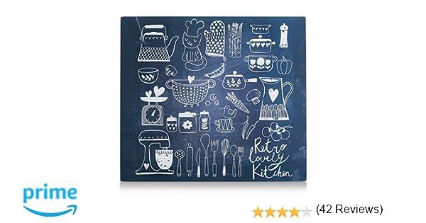 Zeller 26309 Placa de Panel de Cocina, Multicolor, 56x50x3 cm