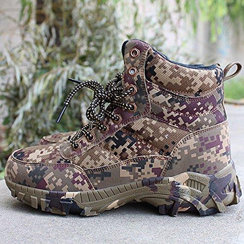 Der winter kalt, warm, hohen zylinder stiefel, ein männer - camouflage - stiefel, stiefeln