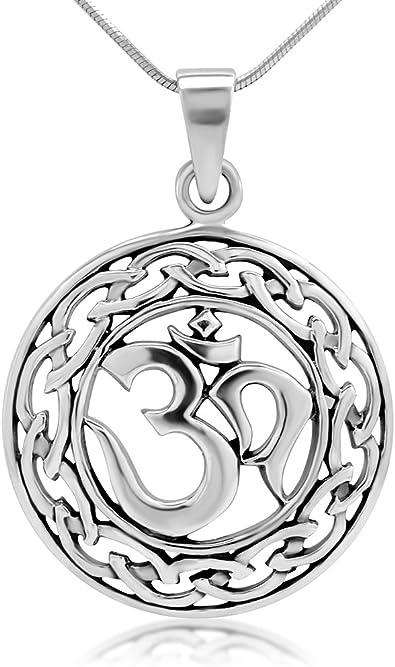 Amazon.com: Plata de ley 925 Yoga, Om, Ohm, sánscrito Celta ...