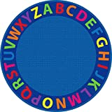 ECR4Kids A-Z Circle Time Educational Seating Rug, 6-Feet Round
