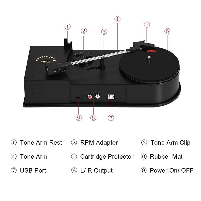 Mini USB 2.0 Convertidor de Tocadiscos de Reproductor de ...