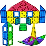 MAGEES Magnetic Building Blocks 35 Set - Magnet Toys Building, Strongest Magnets - Magnetic Tiles Includes Bonus 5 Piece Insert Number Cards - STEM 3D Magnet Tiles - Original Magees - By Play22