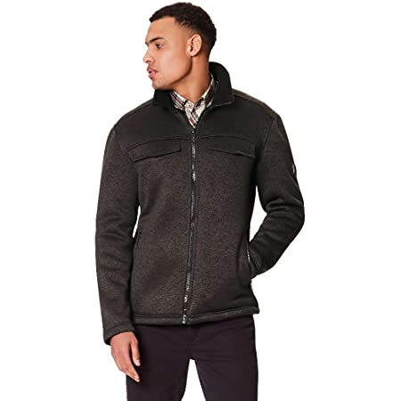 b5661aeb369 Regatta Mens Pagiel Knit Effect Hi Pile Bonded Full Zip Fleece Jacket