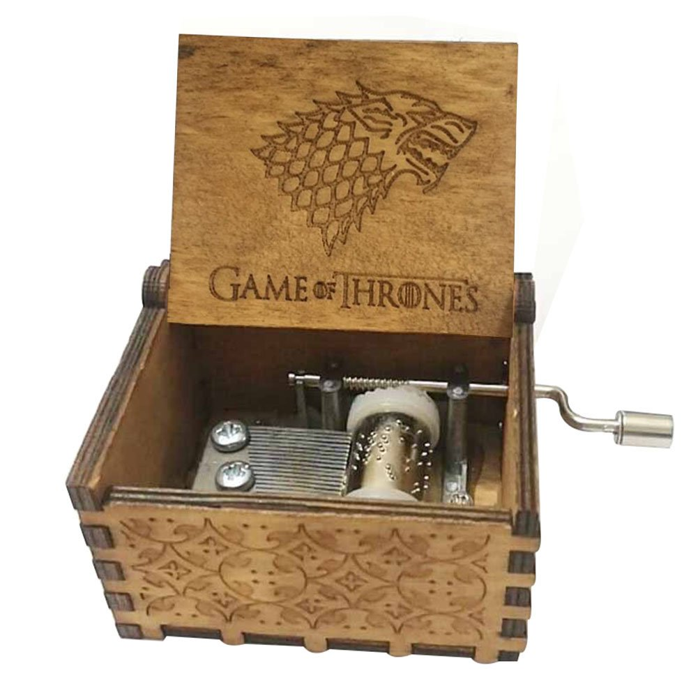FORUSKY Hand Cranking Carved Game of Thrones Wood Music Box for Home Decoration Crafts,Toys,Gift by FORUSKY (Image #1)
