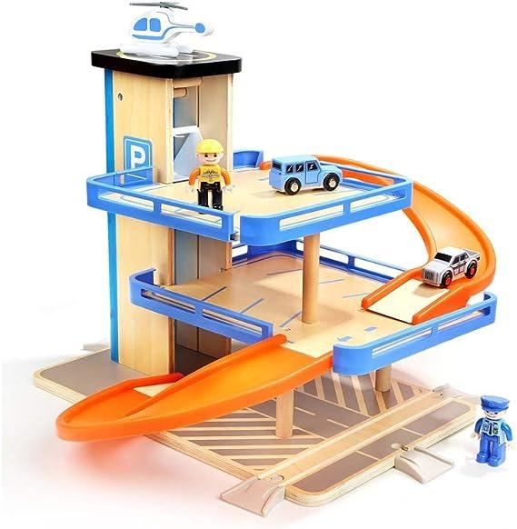 LIUFS-Pista Juguetes educativos para niños 3-6 años Old Boy Rail Car Toy Car Parking Lot Toy Set (Tamaño : L): Amazon.es: Hogar