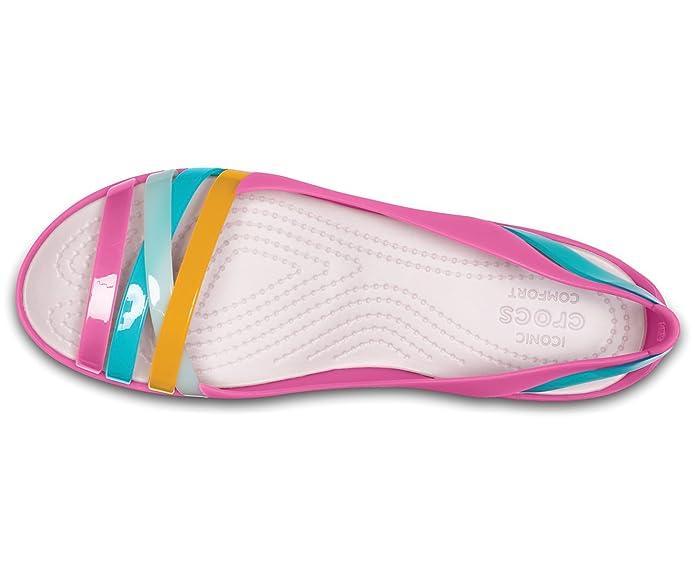 05ab3005dea0 crocs Damen Isabella Huarache 2 Flat W Peeptoe Ballerinas  Amazon.de   Schuhe   Handtaschen