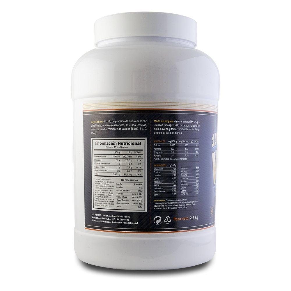 SOTYA - SOTYA Proteina Whey 100% Vainilla 2.2 kg: Amazon.es: Salud y cuidado personal