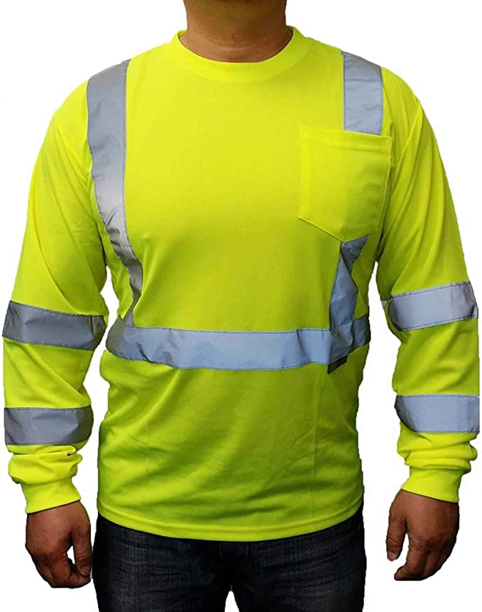 Details about  /High Visibility T-Shirts Hi Vis Tee Non Ansi Safety Work T-Shirt Neon Lime Green