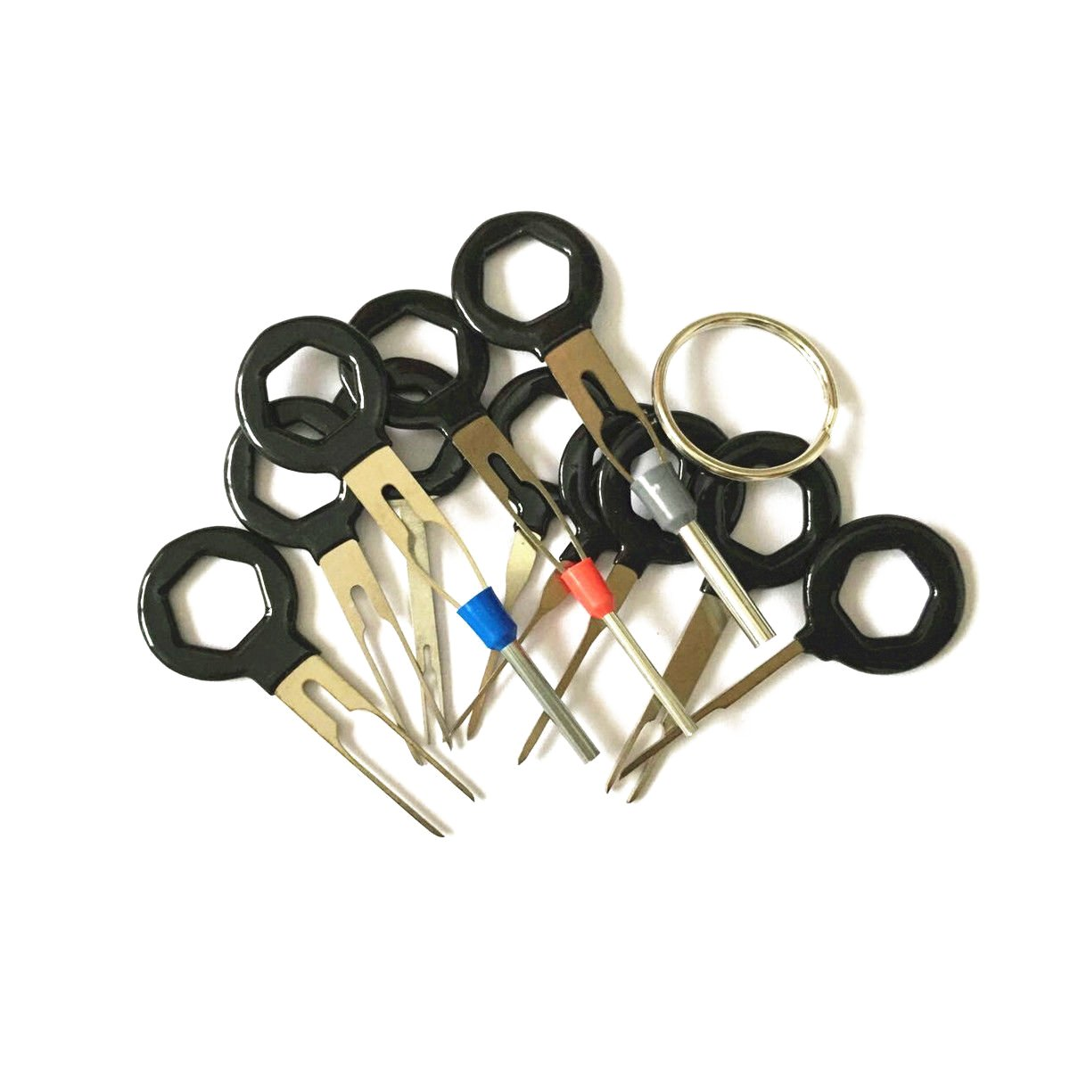 11PK Car Terminal Removal Key Tool Wiring Connector Extractor Puller ...