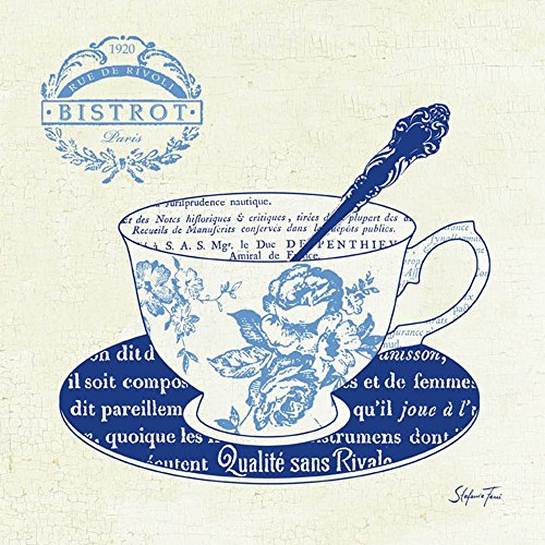 Blue Cups I by Stefania Ferri Art Print, 12 x 12 inches