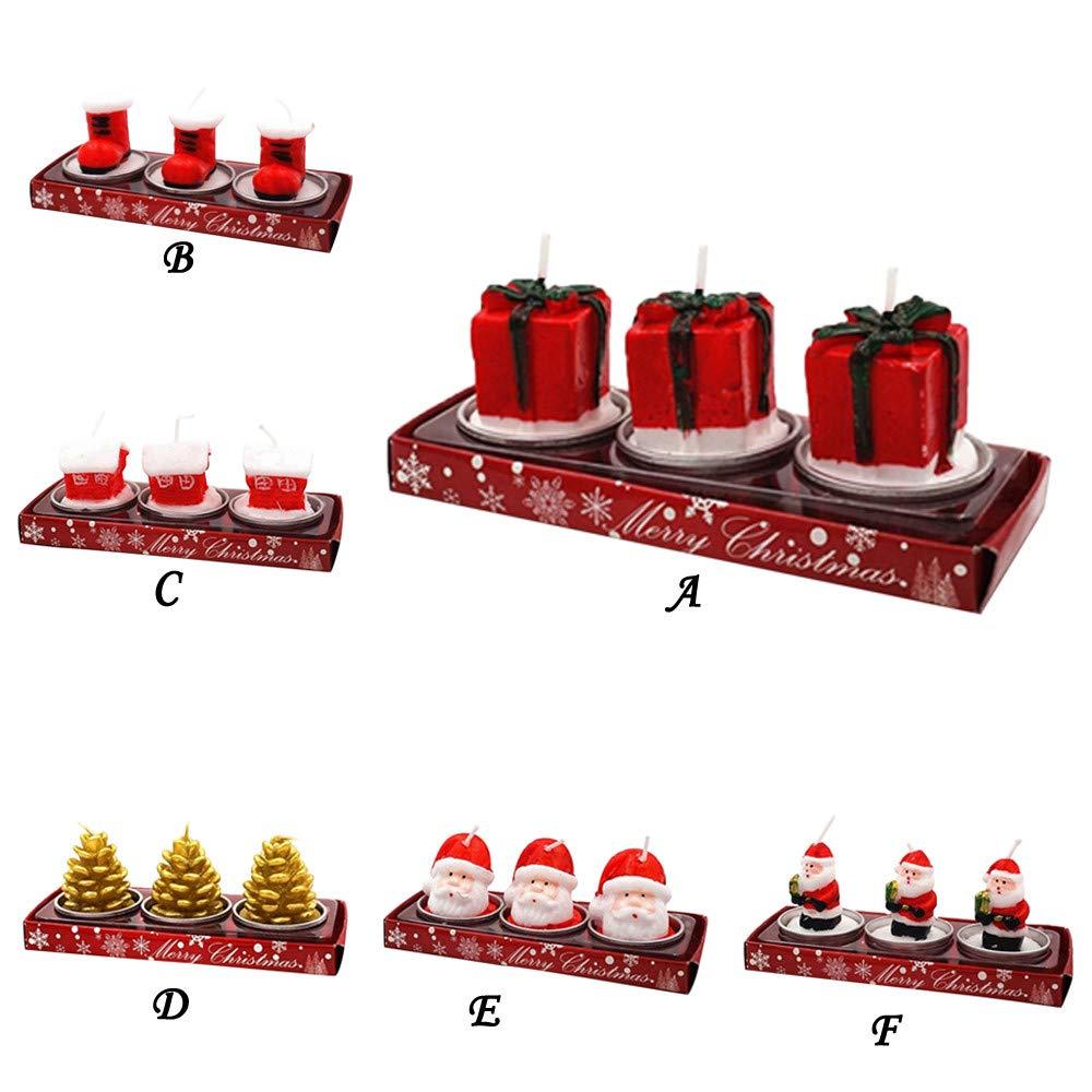 Juego de 3 velas de Navidad con aroma a cera artificial con ...