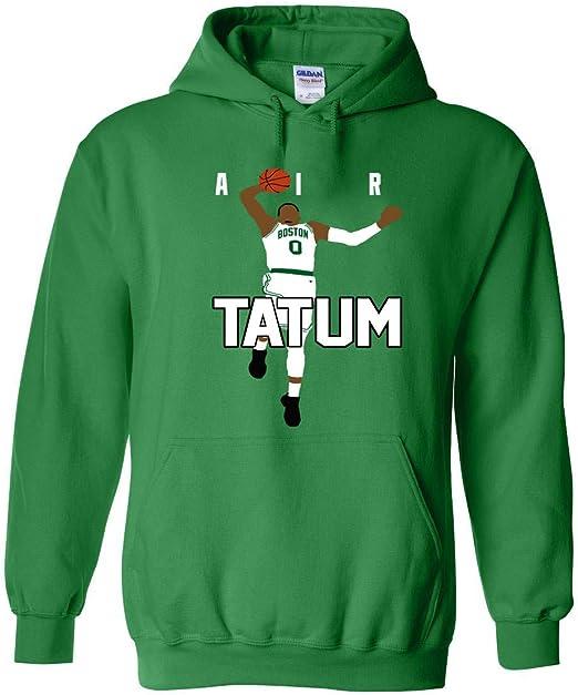 Fancy Fashion Green Boston Tatum Text Pic Hooded Sweatshirt