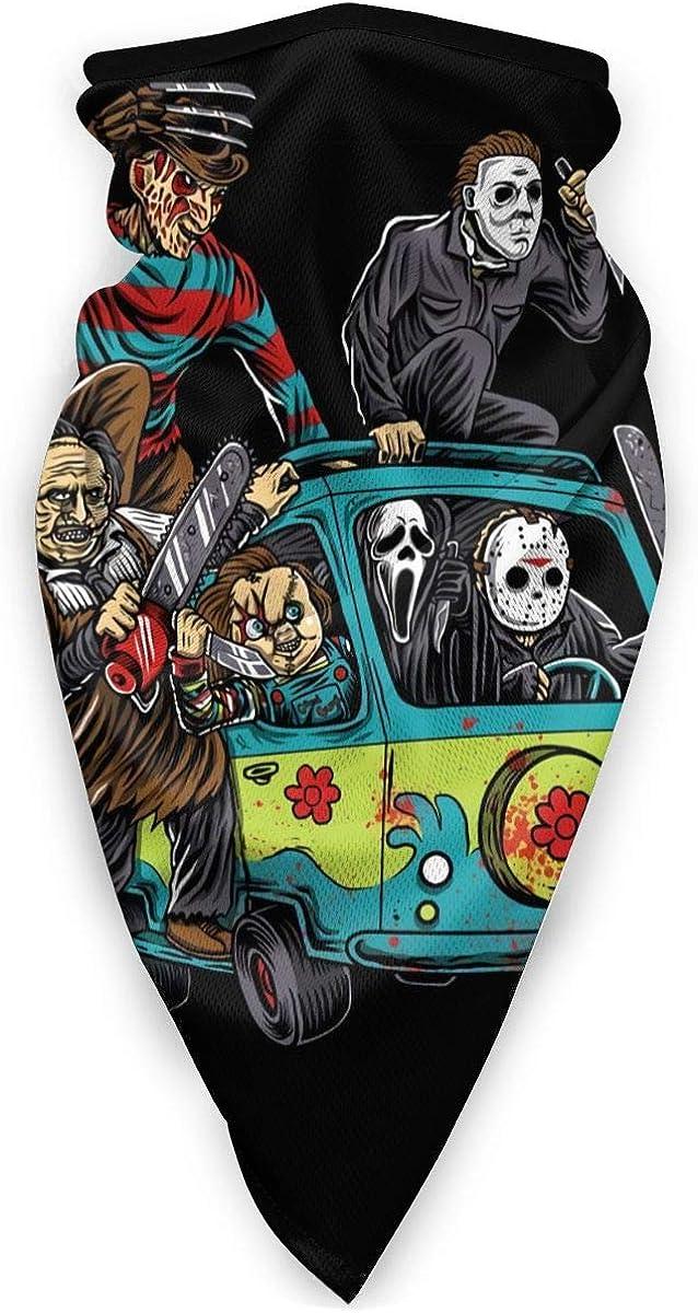 Michael-Myers Horror Halloween Headwear Bandana Neck Gaiter Headwrao Balaclava Facemask Dust Wind Proof for Outdoor