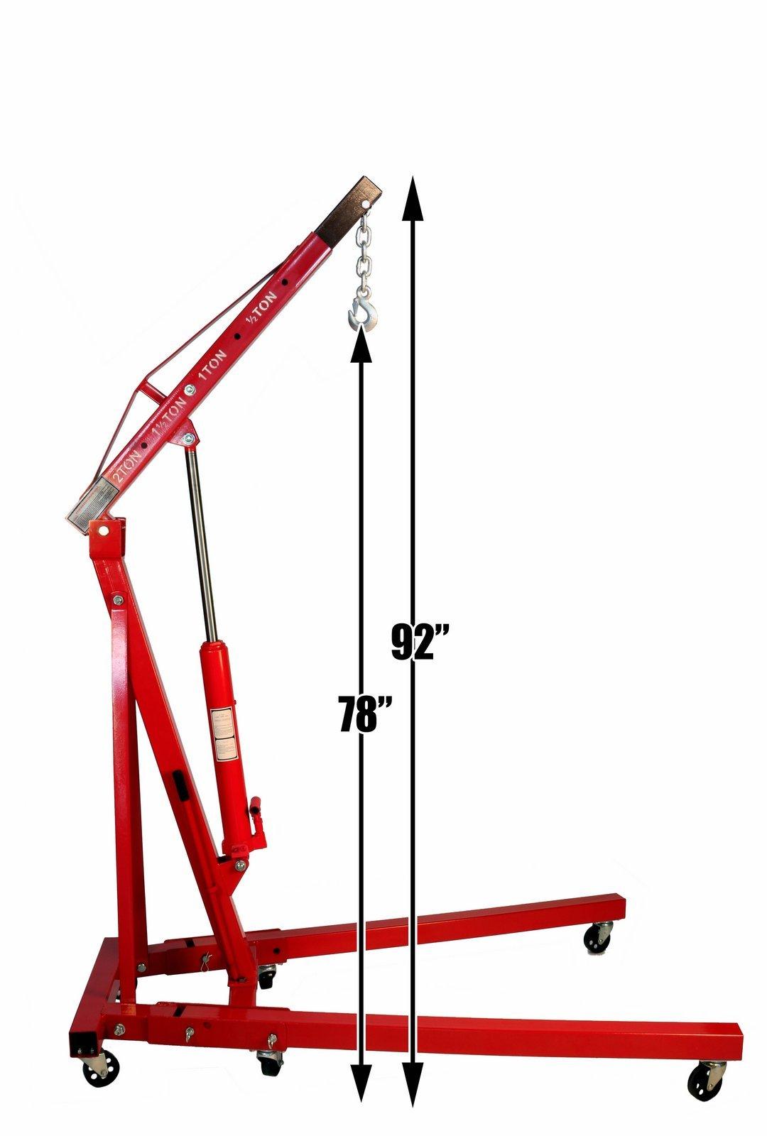 Dragway Tools 2 Ton Folding Hydraulic Engine Hoist Cherry Picker Shop Crane Hoist Lift by Dragway Tools (Image #8)