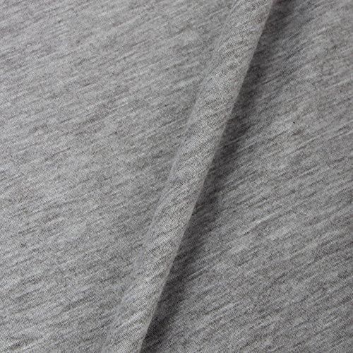 da incrociato sulla con V scoperta Grau maniche schiena schiena scollo a donna Yieune top e a lunghe TqFAF5