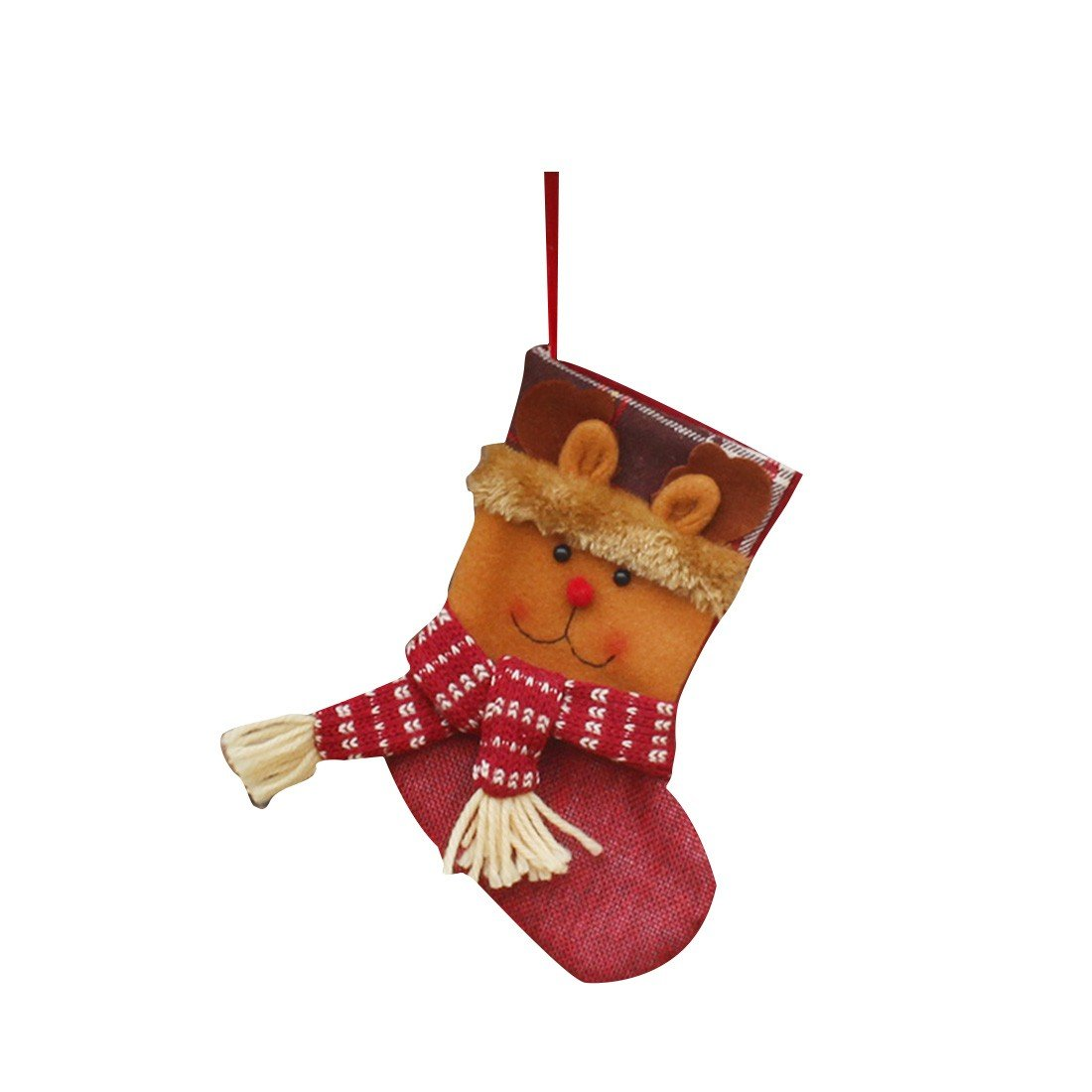 Christmas Socks Christmas Gift Packing Decoration Tree Ornament Supplies Bags-Elk rongwen