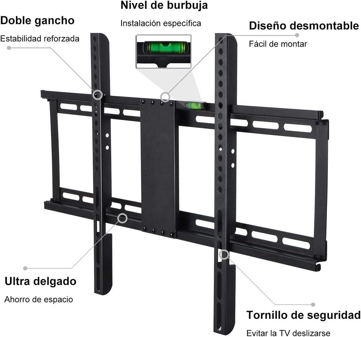 Inclinable y Giratorio 99lbs 35-94cm Carga 45KG para Televisores de Pantalla Plana LED LCD Plasma 4K 3D M/áx Vesa 200x200mm Famgizmo Soporte de Pared para TV 14-37 Pulgadas