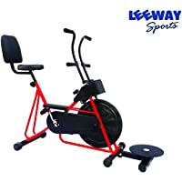 LEEWAY Exercise Cycle with Back Support and Twister for Home Use (Red)