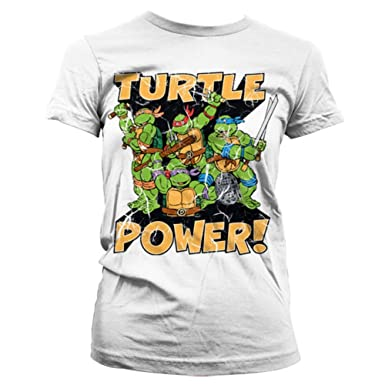 66d67b273 Official Teenage Mutant Ninja Turtle Power White T-shirt - Fitted (Small -  Size