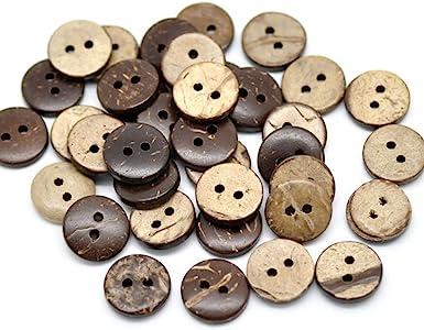 Gespout Botones De Madera Redonda Botones para Costura Mujer Ropa Vestidos Niños Dama Decoración Accesorios Camisa de los Hombres DIY Button 100 Piezas 15mm con 2 Agujeros(Color aleatorio): Amazon.es: Ropa y accesorios