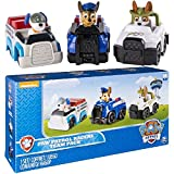Paw Patrol Racers 3-Pack Vehicle Set, Chase, Robodog & Tracker