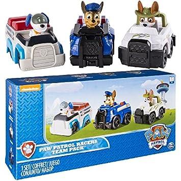 Paw Patrol Racers 3 Pack Vehicle Set, Chase, Robodog U0026 Tracker