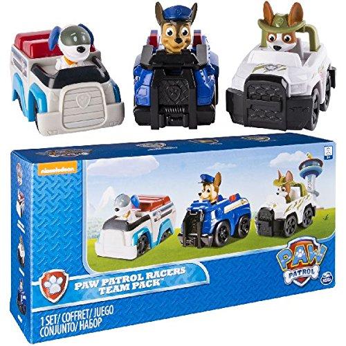 Paw Patrol Racers 3-Pack Vehicle Set, Chase, Robodog & Tracker