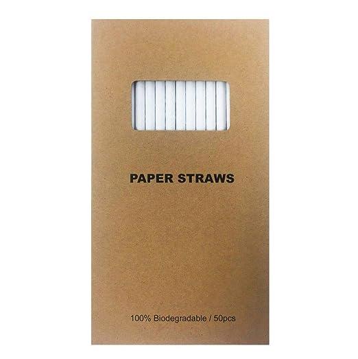 Pajitas de papel ecológicas biodegradables, de alta calidad ...
