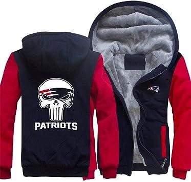 メンズパーカーフルジッパープリント愛国者ベルベットパッド入りフード付きセーターコートフリースフーディー、冬に適しています。