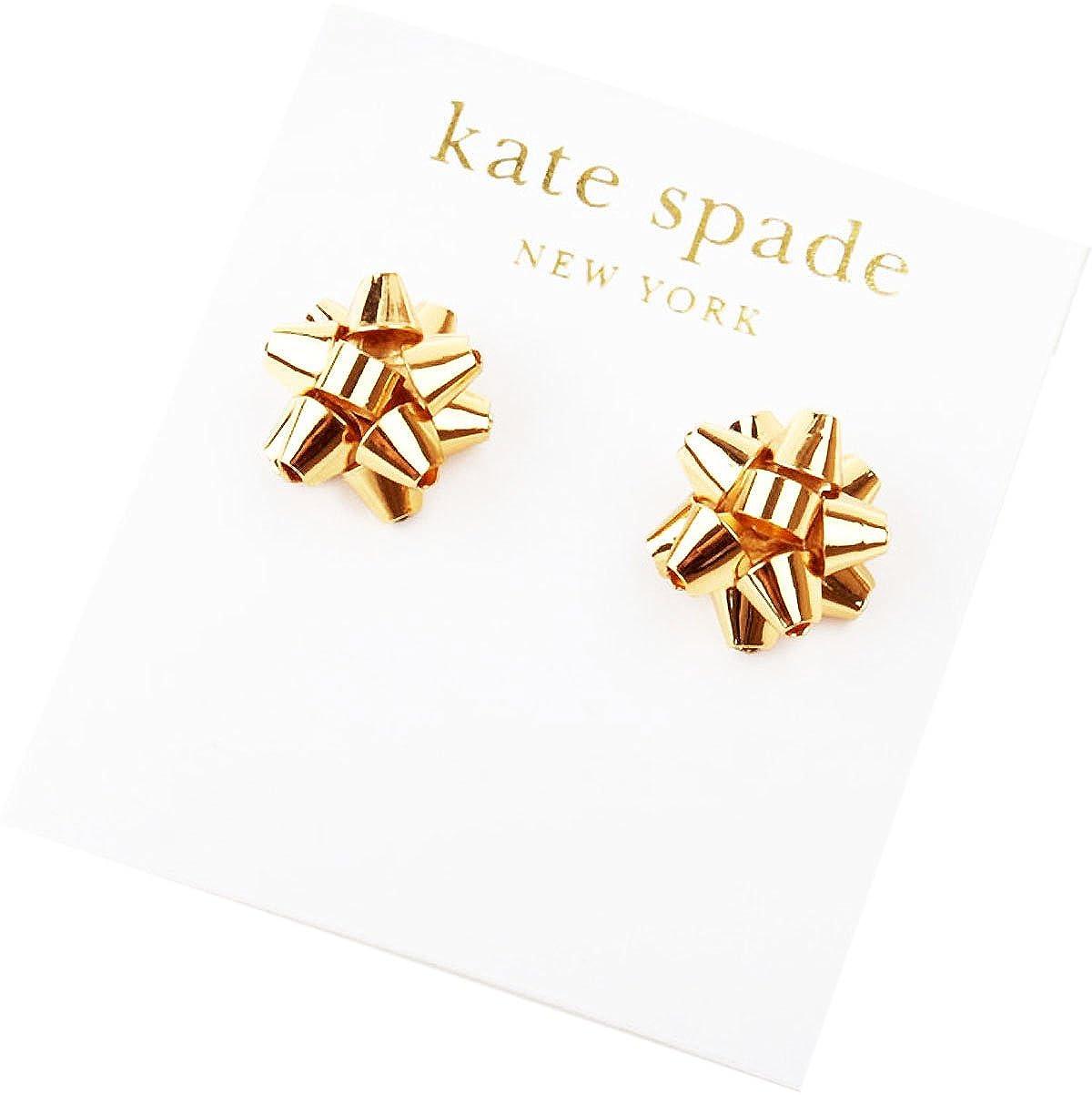 Amazon.com: Kate Spade Bourgeois Bow Earring Studs Gold: Jewelry