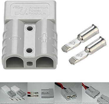 Doppelpoliger Stecker 5 St/ück 600V 50A Doppelpoliger Akku Schnellsteckverbinder mit 10 St/ück Klemmen f/ür die Stromversorgung von Elektrofahrzeugen