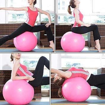 Luftpumpe Geschenk Gymnastikball Pilates TOMSHOO Yoga-Ball Physiotherapie Balance-Ball 45 cm//55 cm//65 cm//75 cm Stabilit/ät Anti-Burst verdickt Barre