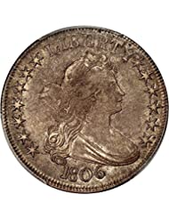 1806 P Bust Half Dollars Pointed 6 Stems Half Dollar AU50 PCGS\CAC