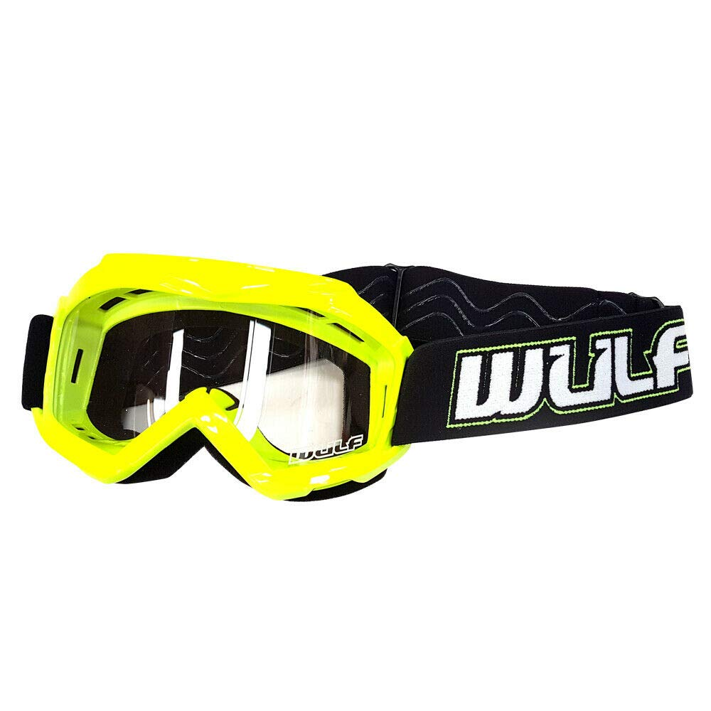 Green Kids Eyewear WULFSPORT MX Goggles Junior Motorcycle Scooter Bike Motocross ATV BMX MTB Racing Sports Protection Gear
