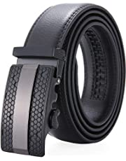 Men's Belt,Wetoper Slide Ratchet Belt for Men with Genuine Leather 1 3/8,Trim to Fit