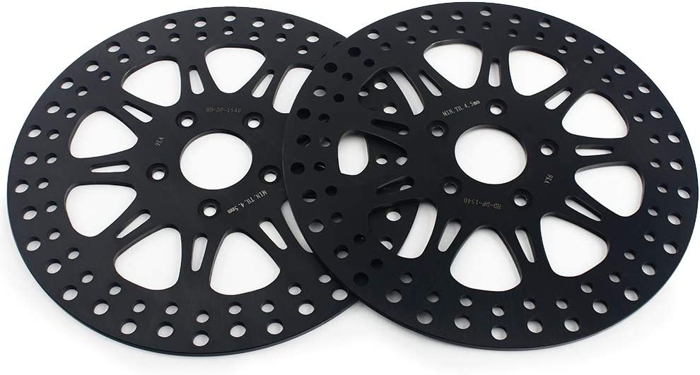 TARAZON 2pcs 11.5 Front Brake Disc Rotor for Dyna 1340 FXDB FXLR Low Rider Custom//Sportster 883 1000 1100 1200