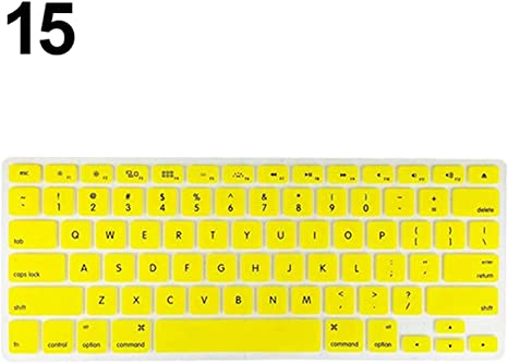 Keyboard Soft Case Compatible for MacBook Air Pro 13//15//17 Inches Cover Protector,Yellow