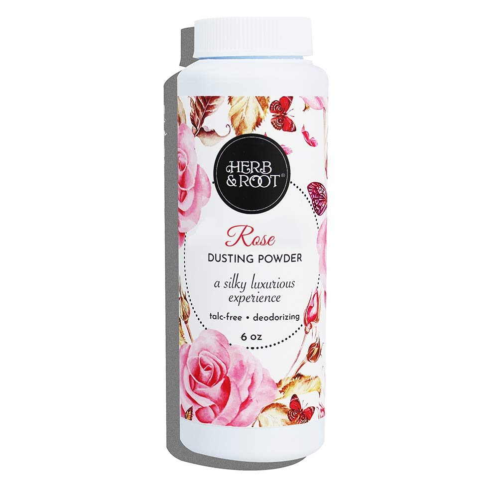 Rose Perfumed Talc Free Body Dusting Powder for Women | Herb & Root