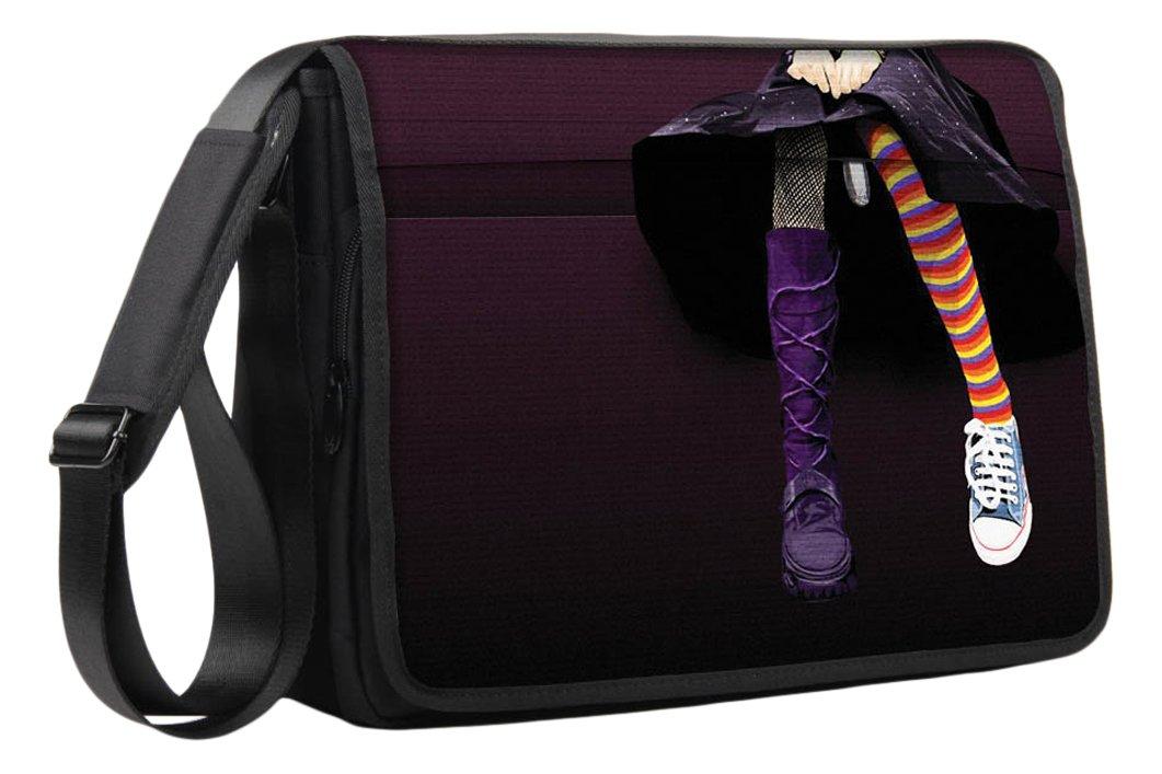 Bolso Bandolera de Luxburg Diseño de Bandolera Lujo para Portátil DE 17 Pulgadas, con Correa para el Hombro Rave Cat 17 Pulgadas d19f9c