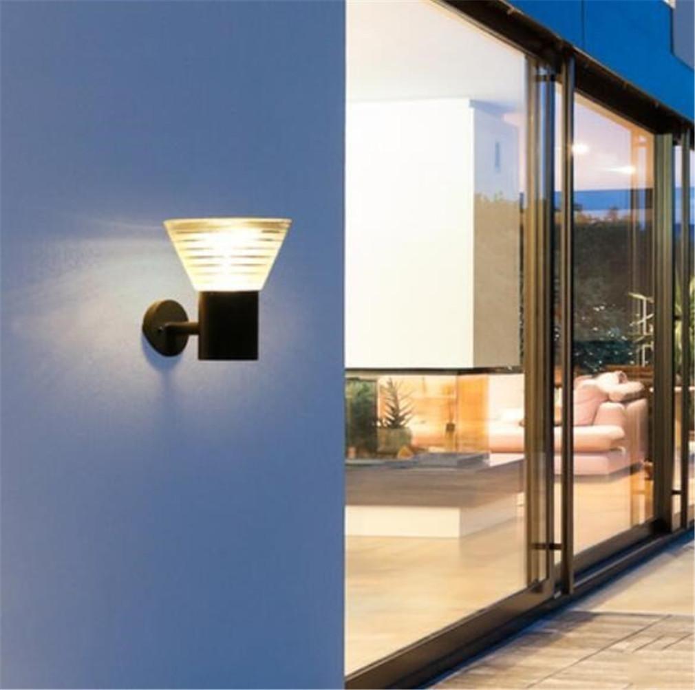 ELEGENCE-Z ソーラー防水屋外LED 3.5Wヴィラライトガーデンライトドアライトテラスガーデンインテリジェントライトコントロール無料配線ホワイト暖かいモダンスタイル、暖かい B07C7QJFZT 12199  warm