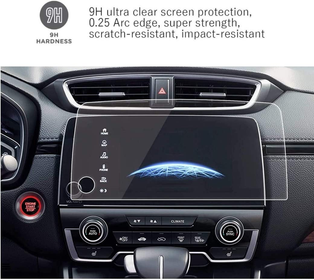 Littrain Tempered GLass Screen Protector Compatible With 2017-2020 Honda CRV,Accurate Size,Anti Scratch,Navigation Accessories for Honda CRV