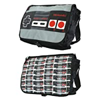 Nintendo Classic Nes Controller Reversible Flap Messenger Bag