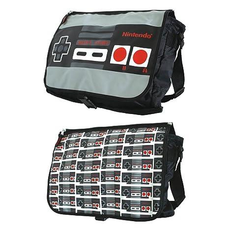 a70883c865 Amazon.com  Nintendo Allover Reversible Flap Messenger Bag