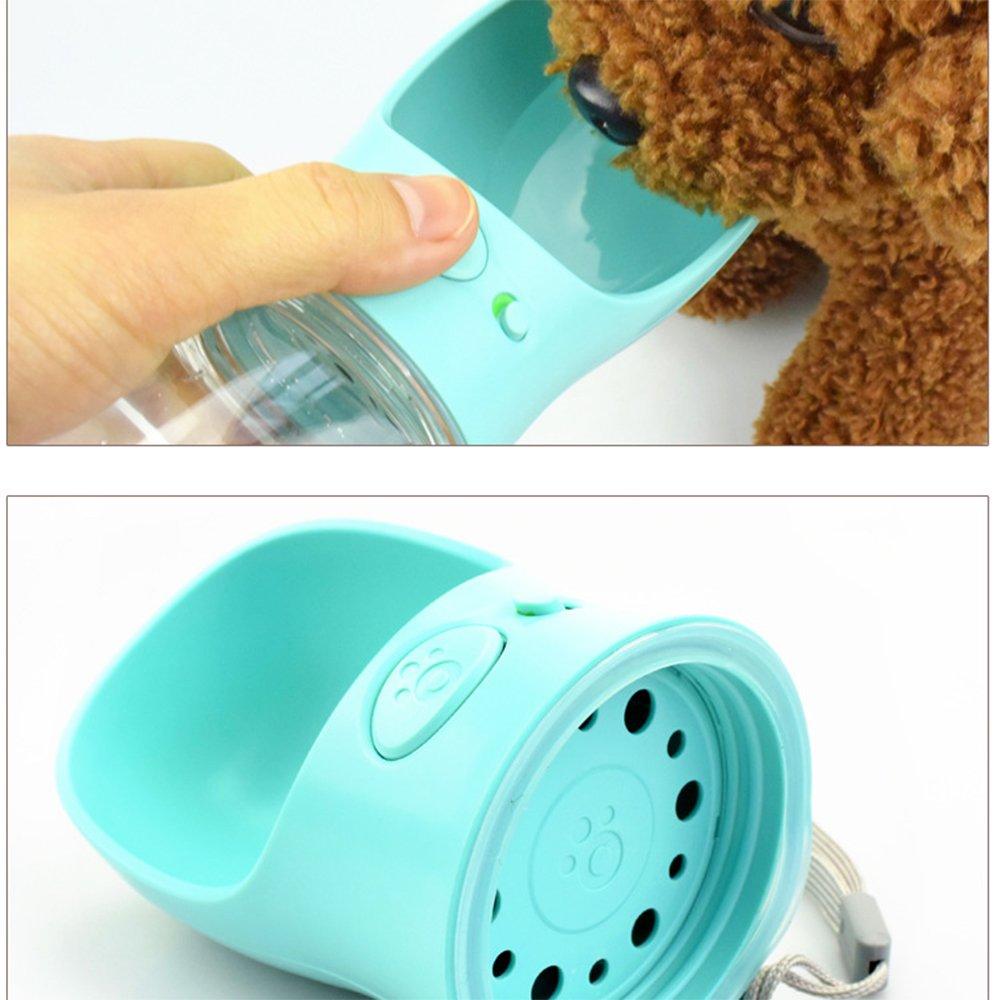 portatile OneSky-UK Bottiglia dacqua dellanimale domestico prova della perdita alimentatore dellerogatore del gatto 12 once plastica libera di BPA tazza dalimentazione bevente del cane