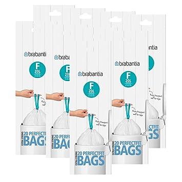Brabantia bolsas de basura Smartfix (F) del saco de 20 L, 20 ...
